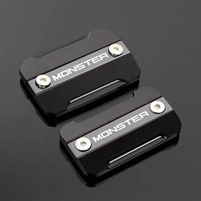 RONGLINGXING Powersports Teile For DUCATI MONSTER600 M600 M620 MONSTER620 MONSTER 600 620 Motorrad-Zubehör Frontbremsflüssigkeitsbehälter Cap Covers (Color : Titanium)