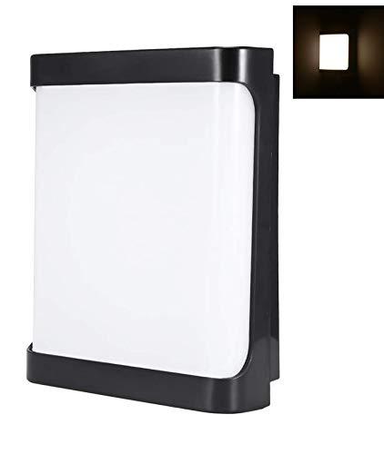 Porcyco Lámpara de Pared LED de 18 W, Lámpara de Pared Interior Para Exteriores IP55 a prueba de agua, Apliques de Pared en cuadrada de 85-265 V, Lámpara de Dormitorio Balcón Pasillo