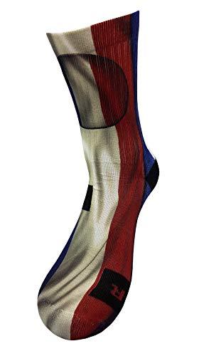 Bandera de francia Calcetines con Diseño Motivo Hecho a Mano Calcetines de impresión 3D para Baloncesto Voleibol Tenis Fitness Golf Ciclismo Balonmano Respirable Coolmax Calcetines deportivos (43-46)