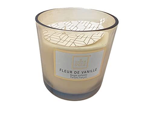 Ducomi Velas perfumadas en tarro de cristal – Idea regalo para tu casa – Perfume intenso y duradero (270 g, flores de vainilla)