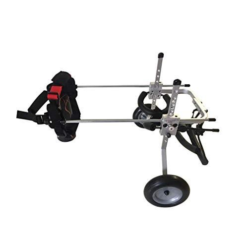 Einstellbarer Haustier Rollstuhl Haustier-Rollstuhl, Multi-Größe kann justiert werden, um Hunderoller, Hinterbein-Rehabilitations-Trainings-Laufkatze, passend für Haustier-Kleidung 1-27KG zu passen Hi