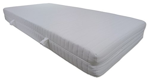 Dibapur Q XXL Soft 9 Zones Orthopedic cold foam mattress 180x200 x ca 23.5 cm Core with padded double cloth cover ca 25cm H2 Made in Germany