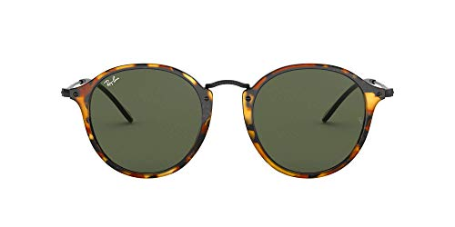 Ray-Ban RB 2447 Gafas de sol, Spotted Black Havana, 49 para Hombre