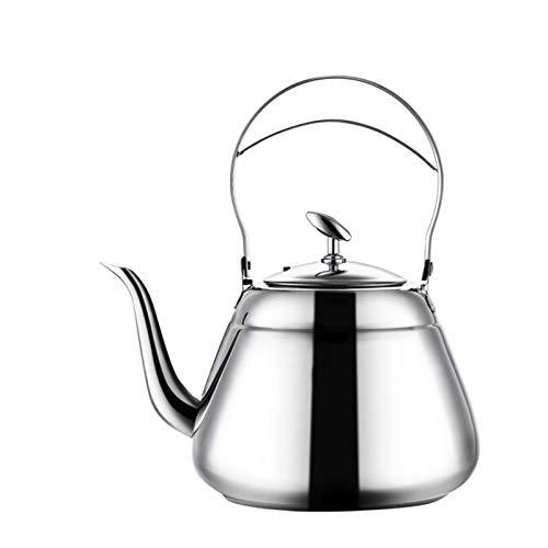 Electric oven Tetera de té de silbido de 1.5 Cuartos de galón, Tetera de Acero Inoxidable Pulido quirúrgico con Mango y inyector Resistente al Calor