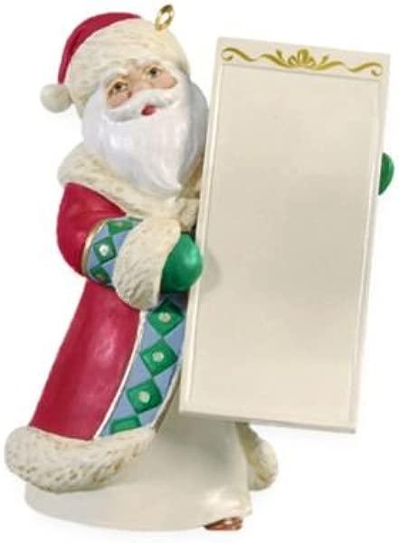 Hallmark Keepsake Ornament Santas List Write On 2009