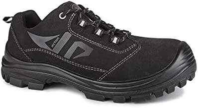 Acton, Profast (A9247-11) | Black Safety Work Shoes | Synthetic ultra suede | CSA Certified | Lightweight | WW Width | Metal Free