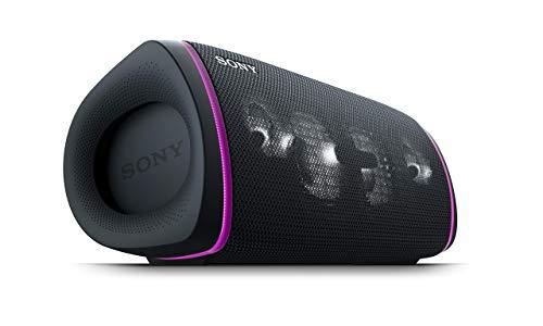 Sony SRS-XB43 tragbarer, kabelloser Bluetooth Lautsprecher (Mehrfarbige Lichtleiste, Lautsprecherbeleuchtung, wasserabweisend, Extra Bass), schwarz