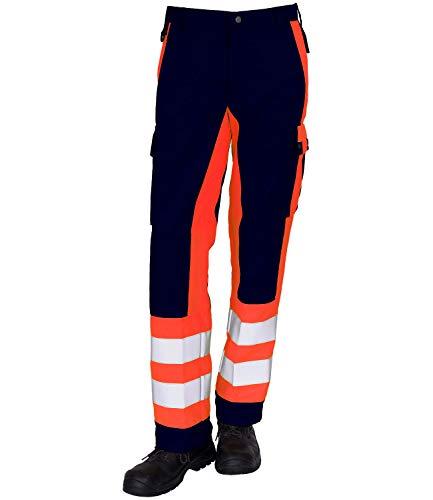 GSG build to protect Magnus ISO20471 - Pantalones reflectantes (clase 1) Azul marino/rojo fluorescente 3 mes