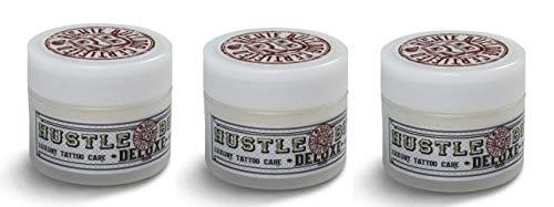 Hustle Butter Deluxe – Vegan Tattoo Care - 3 x 30ml (3oz) Tub – (lot de 3 pots)