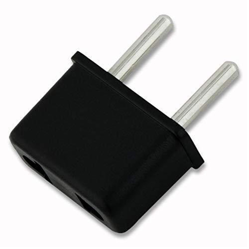 Adaptador de enchufe europeo asiático 4x3.3x1.5 Cm Negro de EE.UU. EE.UU. for la UE africana cargador de la energía del recorrido de salida del convertidor