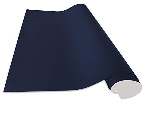Cuadros Lifestyle Selbstklebende und magnetische Vinyl- Tafelfolie | Magnetafel | Magnetfolie, Farbe: Blau, Größe:50x100 cm