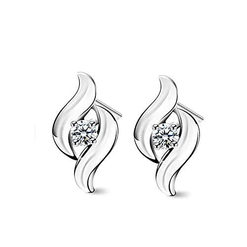 LIUBAOBEI Pendientes De Mujer Aro,Pendientes De Botón De Cristal AAA Vintage para Mujer, Joyería De Oreja De Fiesta