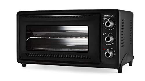 Orbegozo HO 392 A - Horno de sobremesa, 39 L, calor superior e inferior, temporizador, regulador de temperatura, luz interior, 1450 W