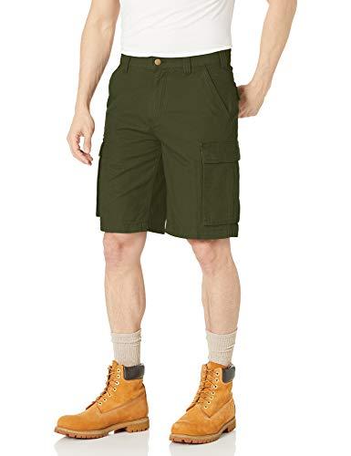 Amazon Essentials Men's Workwear 11' Cargo Short, Olive, 33
