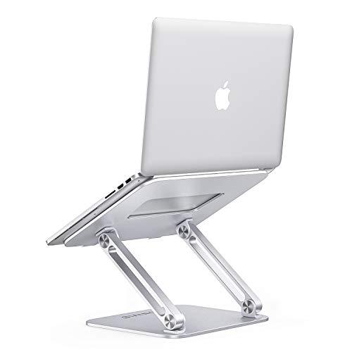 ONIVIB Laptop-Computerständer, Verstellbarer Tablet-Halter-Schreibtisch, Faltbarer, breiter, kompatibler (10-17 Zoll) Notebook-Schreibtisch, für MacBook Pro/Air, Samsung HP Surface- (Silber)