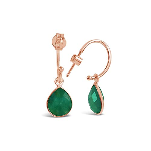 Lily Blanche Edinburgh plata de ley 925 plata de ley pera Green Emerald
