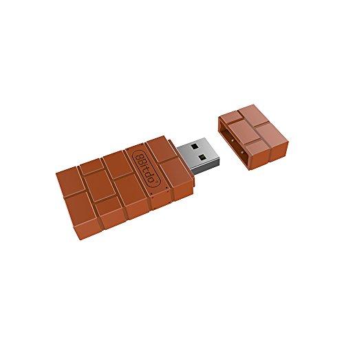 DGDFA Für 8Bitdo USB-Wireless-Adapter, Unterstützung für PS3, Xbox One Controller, tragbarer Empfänger für PC und Mac