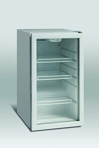 Scandomestic DKS122 - Minibar, Nevera pequeña para bebidas, 110 L de volumen, Funcionamiento silencioso, Puerta de cristal, Iluminación LED