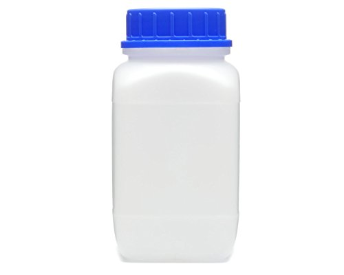 Octopus 1x 1500 ml frascos de Boca Ancha con tapón de Rosca, frascos para Productos químicos, Frasco de Laboratorio