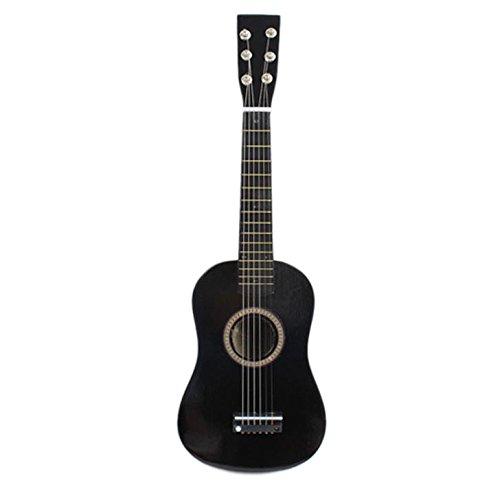 Naturra 23' Guitarra Guitarra Juguete Musical de ninos de Tilo Instrumento de Cuerdas acustica con plectro 1A Cuerda Negro