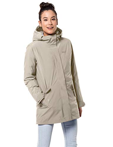 Jack Wolfskin Damen COLD BAY JACKET W wasserdichte Daunenjacke, dusty grey, XL