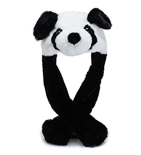 dressfan Simpatico peluche Panda Cappello da orecchio Cappello da berretto Giocattolo divertente Regalo di compleanno Con orecchie in movimento Cosplay Costume Accessorio Ragazze Donna Ragazzi Bambini