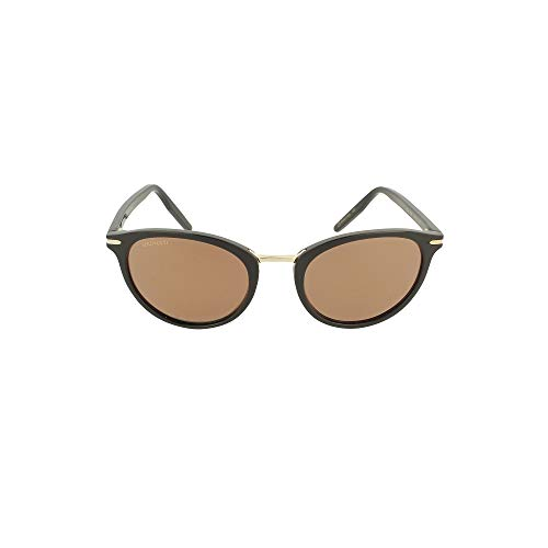 Serengeti Elyna Shiny Black/Mineral Polarized Drivers Gold Medium/Large Sunglasses Unisex-Adult