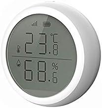 Pantalla LED de Temperatura y Humedad Sensor Inteligente termómetro Amazon Alexa Google Inicio de Alta/Baja de Alarma hogar Inteligente Tuya