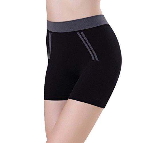 Vidlan Pantalons Femmes Filles d'été Femmes Sports Shorts Gym Shorts de Yoga (Noir)
