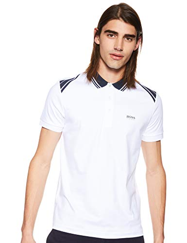 Hugo Boss Mens Slim-fit Polo Shirt Paule 1 50404272 100