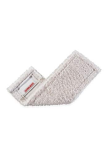 Leifheit Wischbezug Parkettpflege, Metall, Weiß, Pflegebezug Protect (gefaltet), 16,5 x 3 x 30 cm