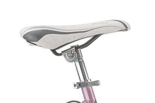 Mountainbike Cicli Cinzia Snake Mädchen, Stahlrahmen, 18 Gang, 24 Zoll, Größe 38 (Pink, Starrgabel)