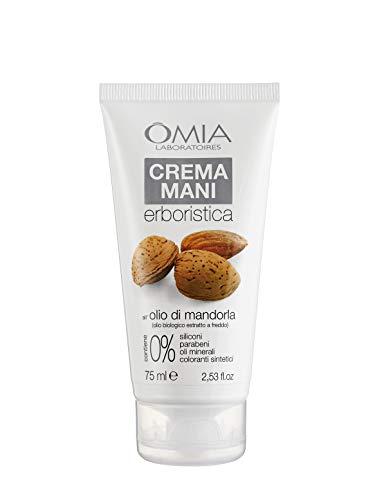 Omia Crema Mani Erboristica con Olio di Mandorla, Crema Mani Riparatrice Intensiva, 75 ml