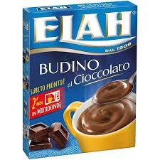 Elah - Preparato per budino Cioccolato per forno microonde, Gusto Cioccolato, 40 g