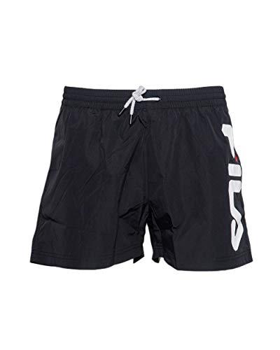 FILA Badehose Herren Michi Beach Shorts 687739 002 Black Schwarz, Größe:XL