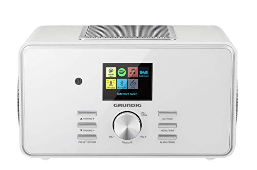 "Grundig DTR 6000 2.1 BT DAB+ WEB ""All-in-one""-Internetradio mit Bluetooth, Multiroom und Empfang Weiß"