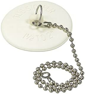 DANCO Rubber Tub Stopper with Chain, White (80783)