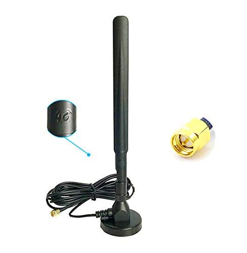 Vecys 4G LTE Antenne SMA Steckeradapter 15DBi GSM / 3G / 4G Omnidirektionale Außen-Innen 4G-Antenne 3M RG174 Kabel Magnetbasis Kompatibel mit 4G LTE Router Huawei 4G B593S-B310 B315S