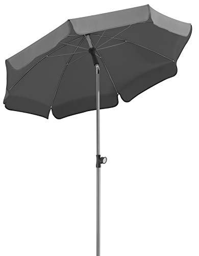 Schneider-Schirme Locarno Sonnenschirm anthrazit ca. 150 cm Ø
