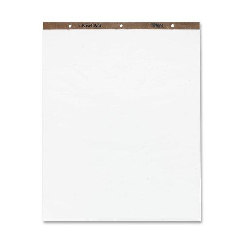 TOPS Staffelei-Block, 70 x 89 cm, 3-fach gelocht, 50 Blatt, weiß, Karton mit 4 Staffeleiblöcken (79011) (4 Stück)