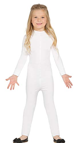 Disfraz de Maillot infantil blanco 5-8 aos super-elstico