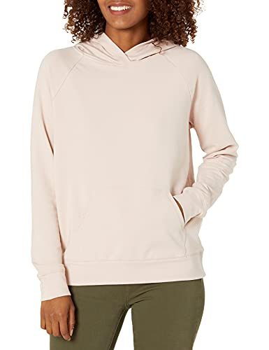 Daily Ritual Terry Cotton and Modal Popover Sweatshirt novelty-athletic-sweatshirts, Rosa, US M (EU M - L)