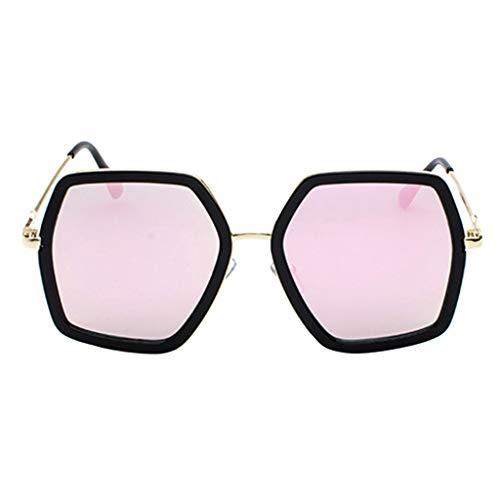 Lazzboy Herren- Und Damen-sonnenbrille Aus Metall Mit Großem Gestell Unisex Sonnenbrille Retro Stark Brillen Quadratische Metallrahmen Für Männer Frauen Klassiker Piloten(F)