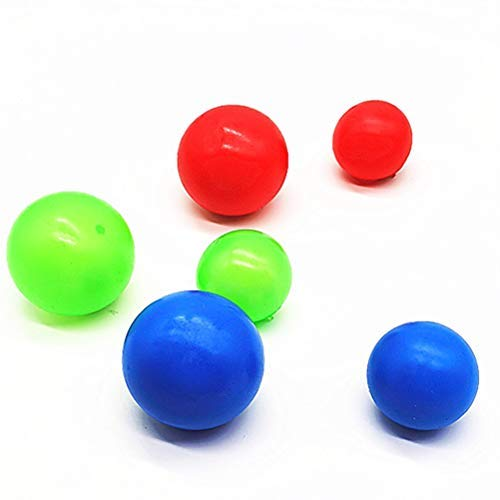 RetroFun 8 Bolas Adhesivas de Pared, Juguetes Blandos para aliviar el estrés, Bolas Adhesivas para el estrés, Bolas Adhesivas Fluorescentes para Pared, Juguete de descompresión para Adultos y niños