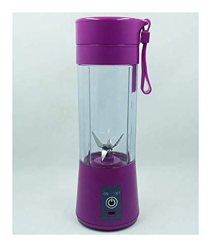 YWYW Licuadora portátil, Taza exprimidora Recargable por USB de 380 ml sin BPA, para el hogar, la Oficina, al Aire Libre (con Cepillo para Tazas) (Color: Morado)