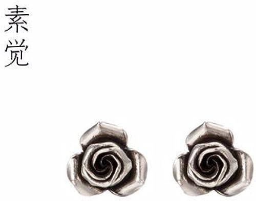 BAGEHAN Ms 925 Silber Ohrringe handgefertigt Silber Ohrringe Schmuck Geschenk handgemachte Rosa Ohrringe