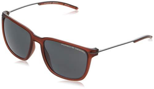 Porsche Design zonnebril P8637 D 57 17 140 rechthoekig zonnebril 57, rood
