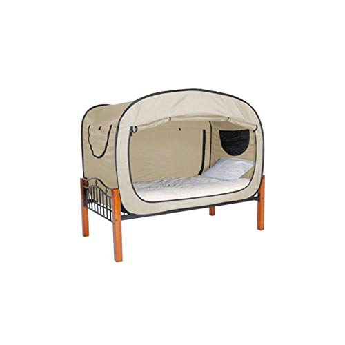 YY-HW Bed college student dormitory artifact single privacy tent foldable mosquito net indoor bed with warm account speed open sports and leisure,family tent (Color : White)