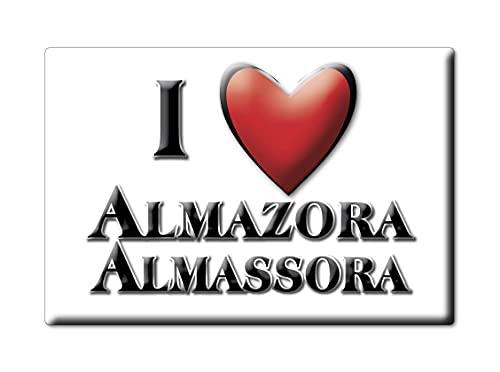 Enjoymagnets ALMAZORA ALMASSORA (CS) Souvenir IMANES DE Nevera ESPAÑA COMUNITAT Valenciana IMAN Fridge Magnet Corazon I Love