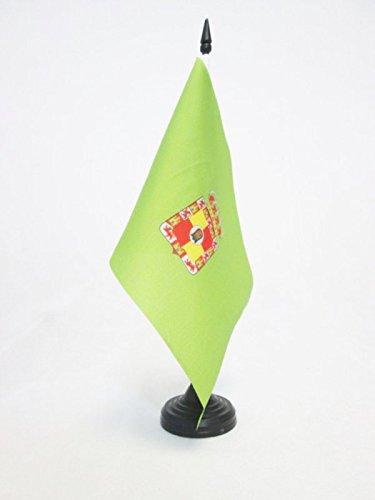AZ FLAG TISCHFLAGGE Provinz JAÉN 21x14cm - JAÉN IN Spanien TISCHFAHNE 14 x 21 cm - flaggen
